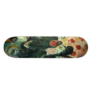 Edward Munch Art Painting Skateboard