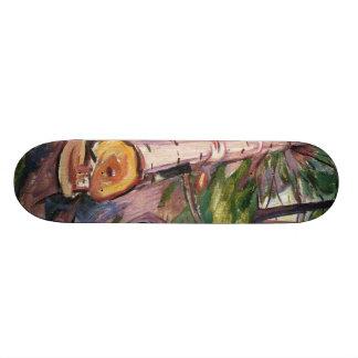 Edward Munch Art Painting Skateboard Deck