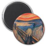 Edward Munch The Scream 2 Inch Round Magnet