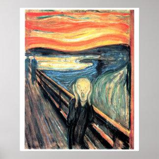 Edward Munch The Scream Art Poster