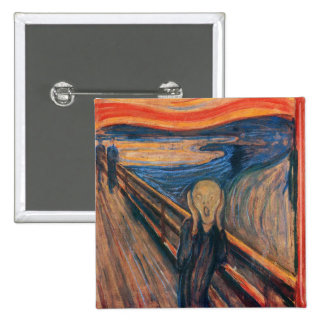 Edward Munch The Scream Button