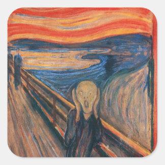 Edward Munch The Scream Square Sticker