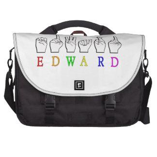 EDWARD NAMESIGN FINGERSPELLED ASL COMMUTER BAGS