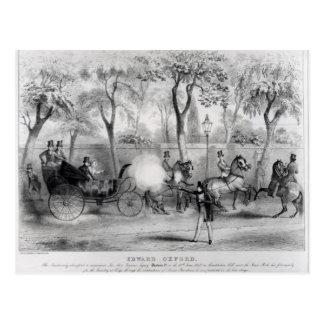 Edward Oxford's attempt to assasinate Queen Postcard