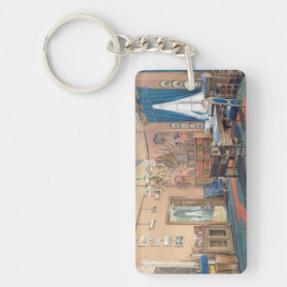 Edward Petrovich Interiors of the Small Hermitage Acrylic Keychain