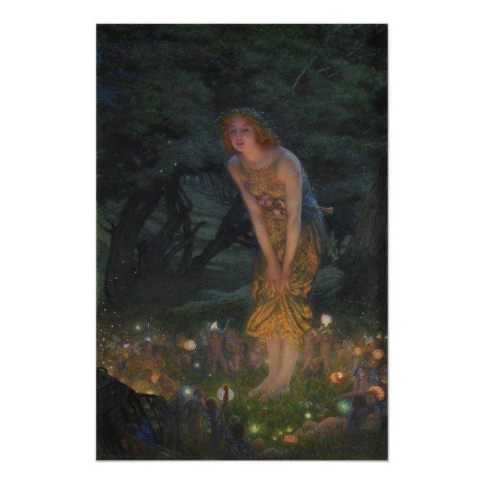 Edward Robert Hughes Midsummer Eve CC0353 Perfect Poster