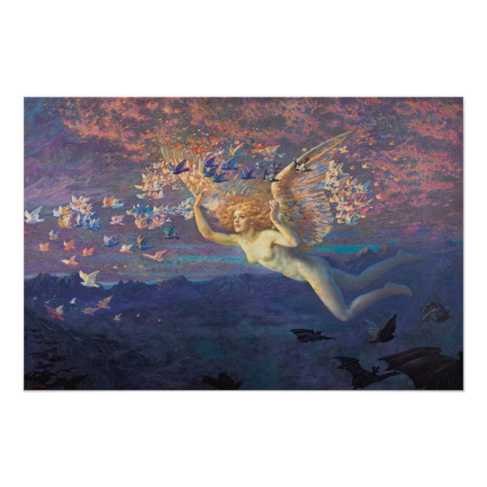 Edward Robert Hughes Wings of the morning CC0798 Perfect Poster