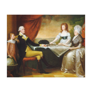 Edward Savage The Washington Family Stretched Canvas Prints