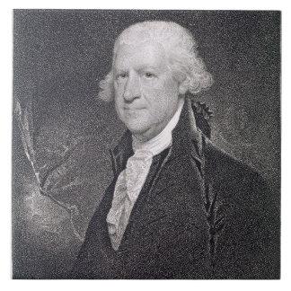 Edward Shippen (1729-1806) grabado por el pozo de  Azulejo Cuadrado Grande