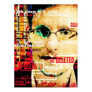 Edward Snowden Art Postcard