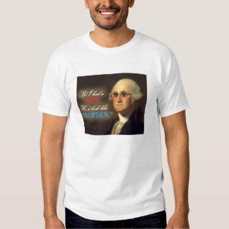 Edward Snowden - camisa de Whte del hijo de George