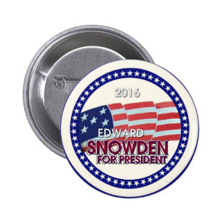 Edward Snowden for President 2016 Pin