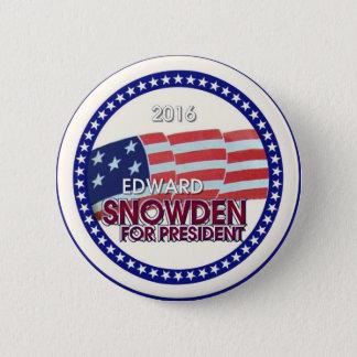 Edward Snowden for President 2016 Pinback Button