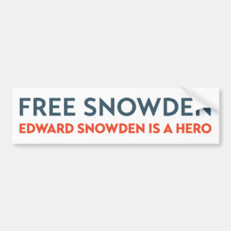 Edward Snowden Hero  Bumper Sticker