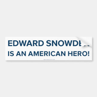 Edward Snowden Hero  Bumper Sticker Car Bumper Sticker