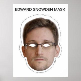 Edward Snowden Mask Poster