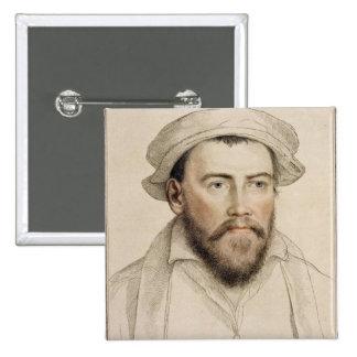 Edward Stanley Earle de Darby (1508-1572) grabado Pin Cuadrado