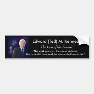 Edward (Ted) Kennedy - en Memorium Etiqueta De Parachoque