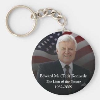 Edward (Ted) Kennedy - In Memorium Key Ring Basic Round Button Keychain