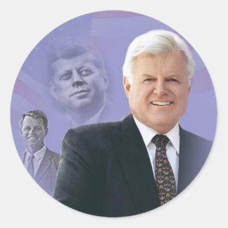 Edward (Ted) Kennedy - In Memorium Round Sticker