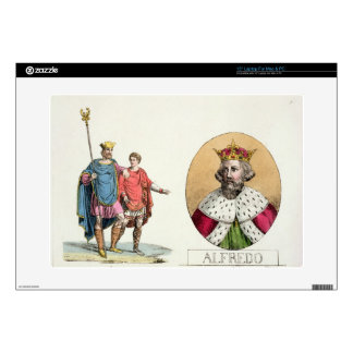 """Edward the Confessor and King Alfred, plate 7 from Decal For 15"""" Laptop"""