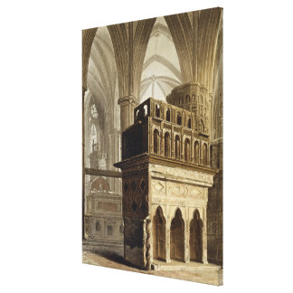Edward the Confessor's Monument, plate M from 'Wes Canvas Print