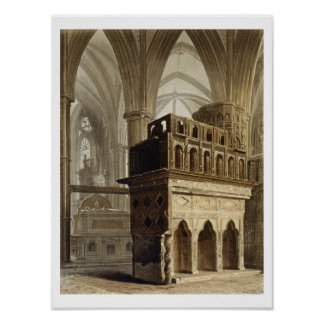 Edward the Confessor's Monument, plate M from 'Wes Poster
