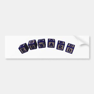 Edward Toy blocks in blue. Bumper Sticker
