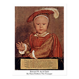 Edward Vi. Como niño de Hans Holbein el más joven Tarjetas Postales