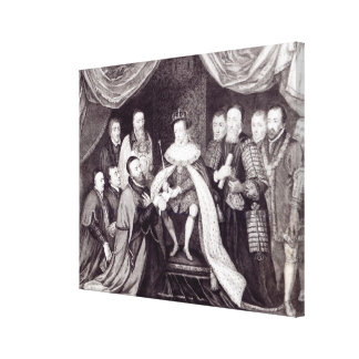 Edward VI Granting the Charter Stretched Canvas Prints