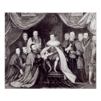 Edward VI Granting the Charter Poster