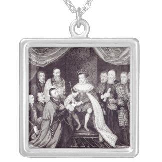 Edward VI que concede la carta Colgante Cuadrado