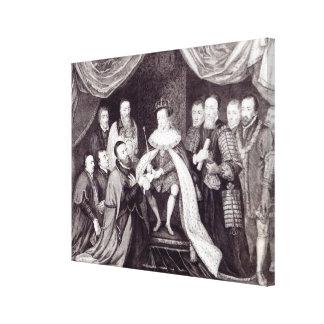 Edward VI que concede la carta Impresion De Lienzo