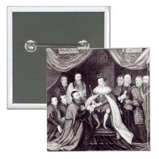 Edward VI que concede la carta Pin Cuadrado