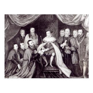 Edward VI que concede la carta Postales