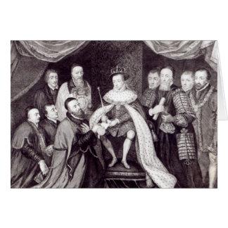 Edward VI que concede la carta Tarjeta De Felicitación