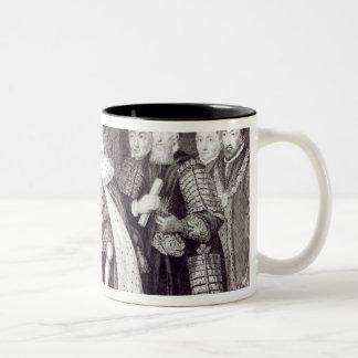 Edward VI que concede la carta Taza De Dos Tonos