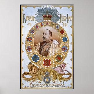 Edward VII, programa de fuegos artificiales Poster