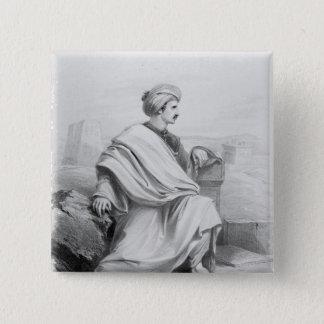 Edward William Lane as 'A Bedouin Arab', 1828 Button