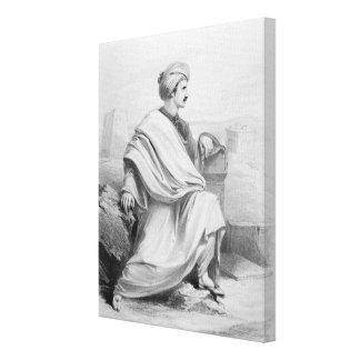 Edward William Lane as 'A Bedouin Arab', 1828 Canvas Print