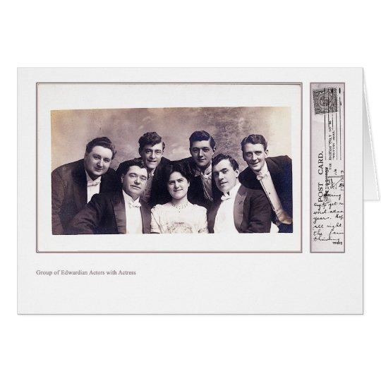 Edwardian Actors & Actress Greeting Card