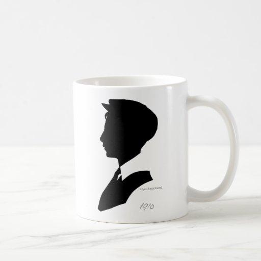 Edwardian Black and White Vintage Silhouette Coffee Mug ...