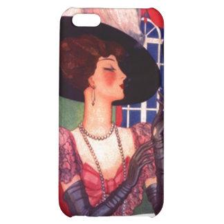 Edwardian Fashion Plum Opera Gloves iPhone 4 Case