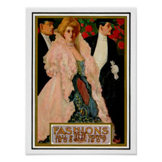 Edwardian Fashions: Fall and Winter 1906 and 1907 Poster