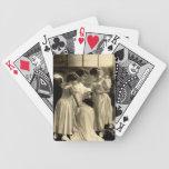 Edwardian Lady & Children Knitting Cards Card Deck