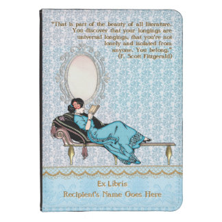 Edwardian Lady on Chaise Reading (Personalized) Kindle Touch Cover