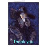 Edwardian lady thank you card