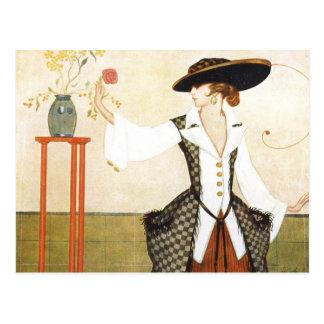 Edwardian Rose Postcard