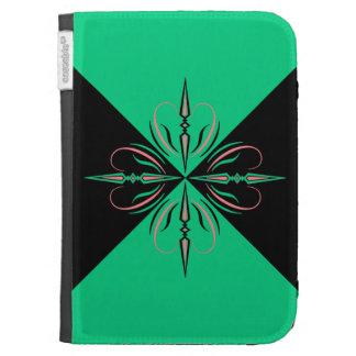Edwardian verde y negro enciende la caja