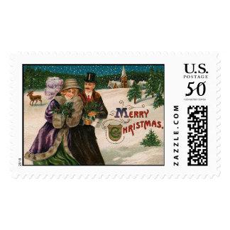 Edwardian Vintage Christmas Stamps